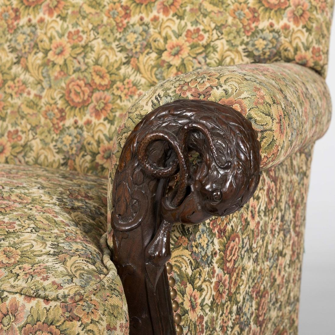 Federal Style Eagle and Serpent Club Chair - 2