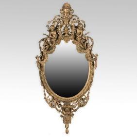 Ornate Gold Leaf Gesso Victorian Mirror