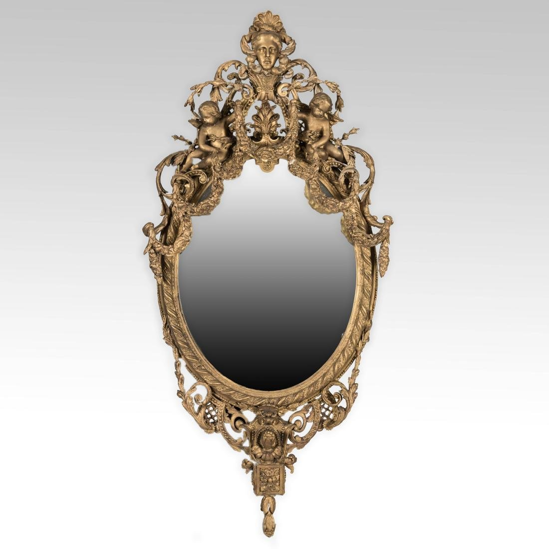Ornate Gold Leaf Gesso Victorian Mirror