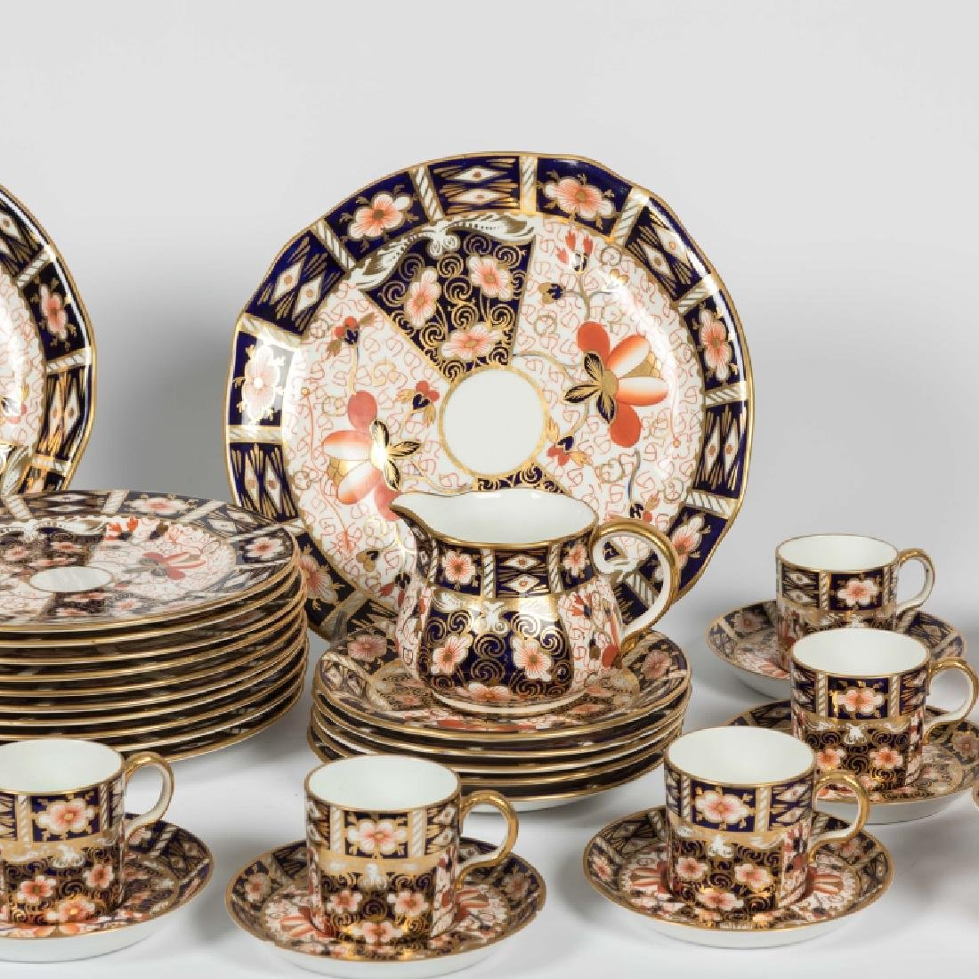 54 Piece Royal Crown Derby Old Imari Luncheon Set - 3