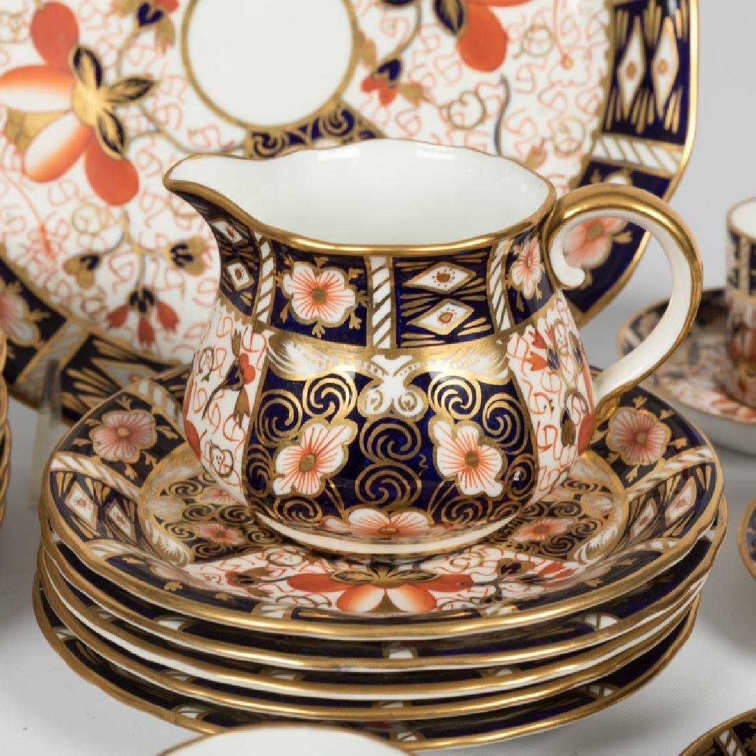 54 Piece Royal Crown Derby Old Imari Luncheon Set - 7