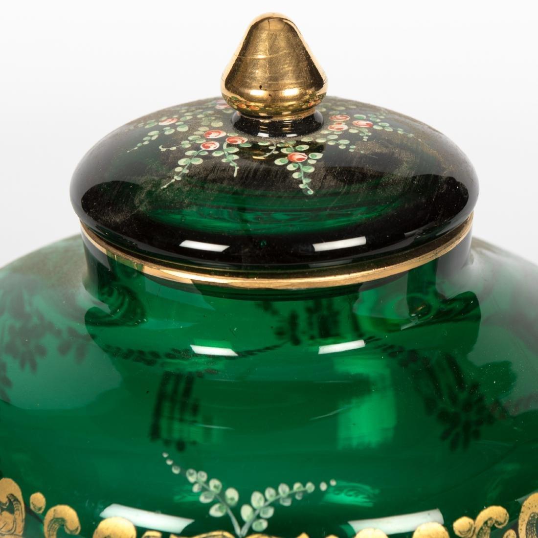 Enameled Glass Tea Set - 11 Piece - 2