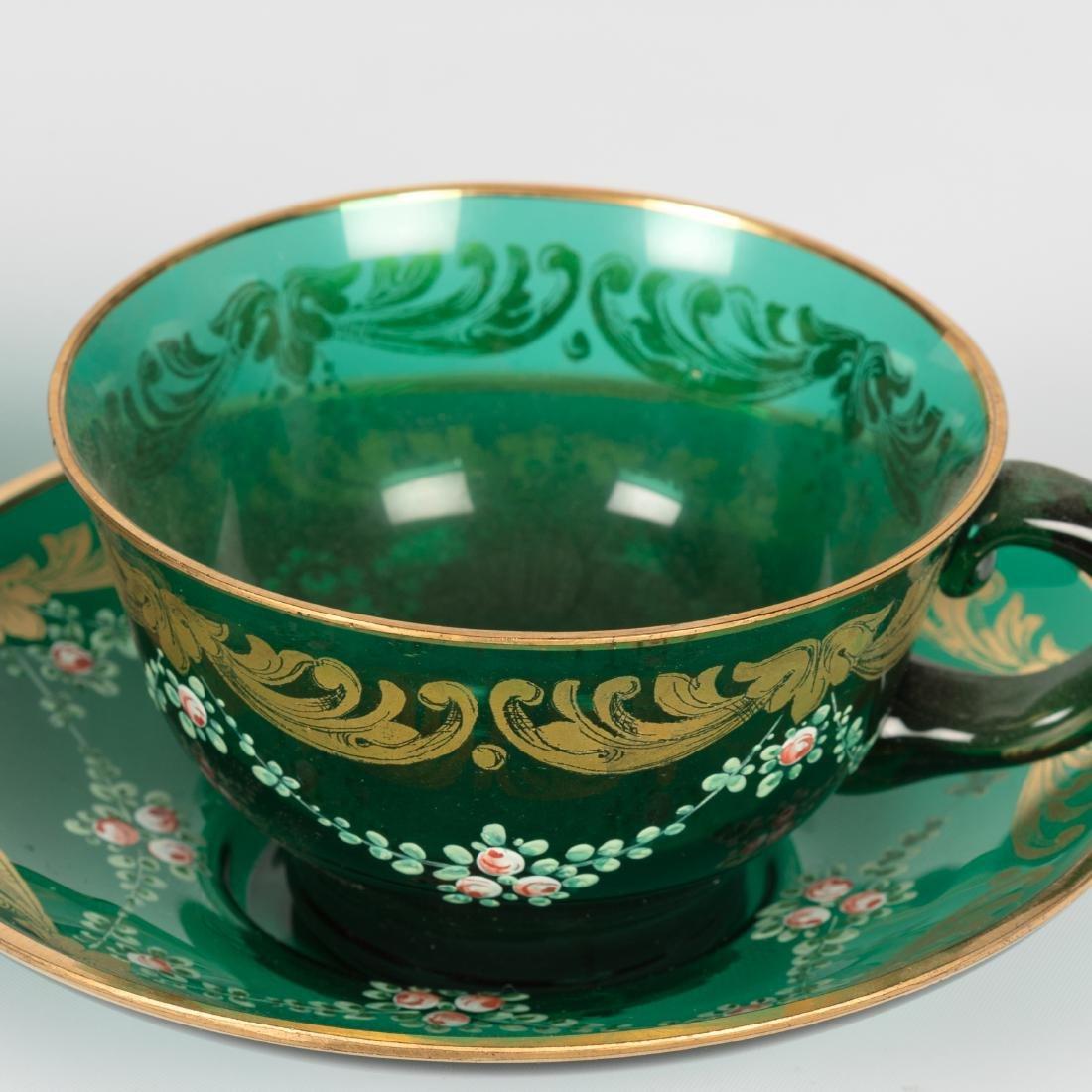 Enameled Glass Tea Set - 11 Piece - 4