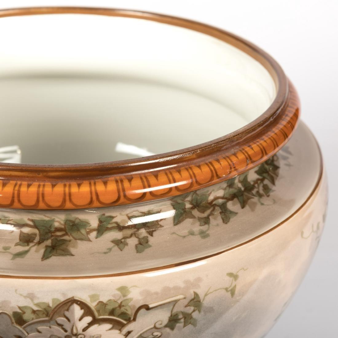 Continental Porcelain Jardiniere - 2