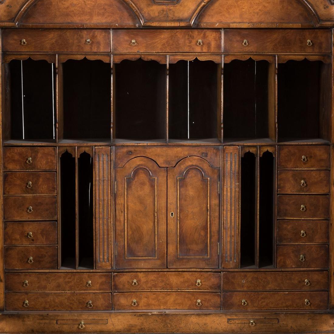 Antique English Burled Secretary Desk - 2