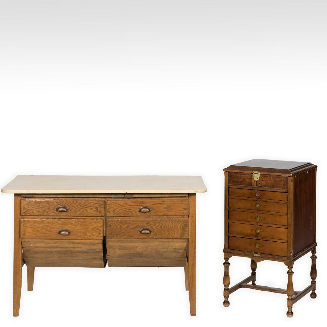 Hoosier Cabinet and Sewing Cabinet