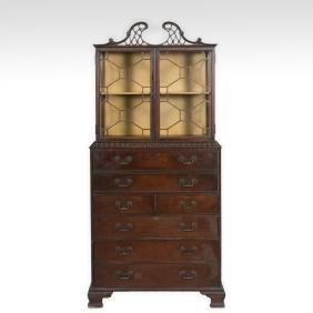 Chippendale Style Curio Cabinet on Base