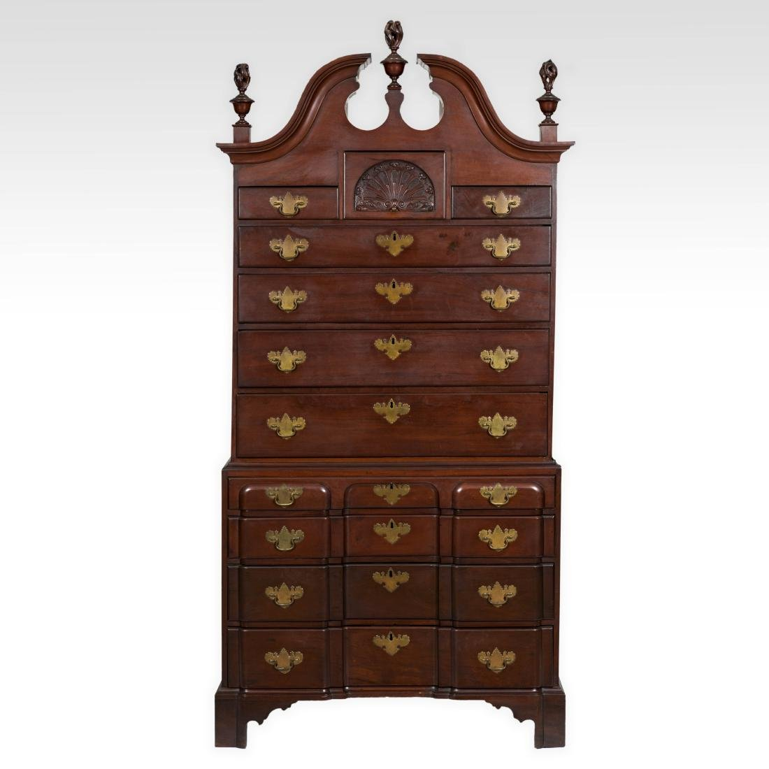 Antique Mahogany Blockfront Chest - Providence - c.1780