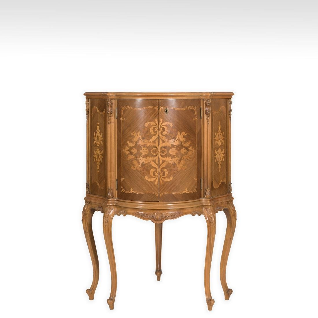 Inlaid French Corner Bar