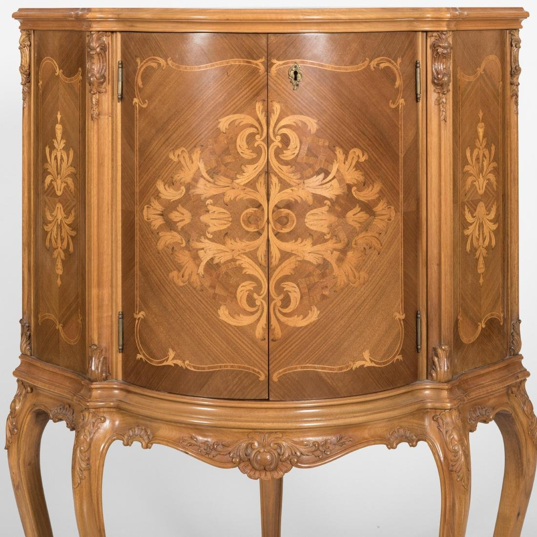 Inlaid French Corner Bar - 2