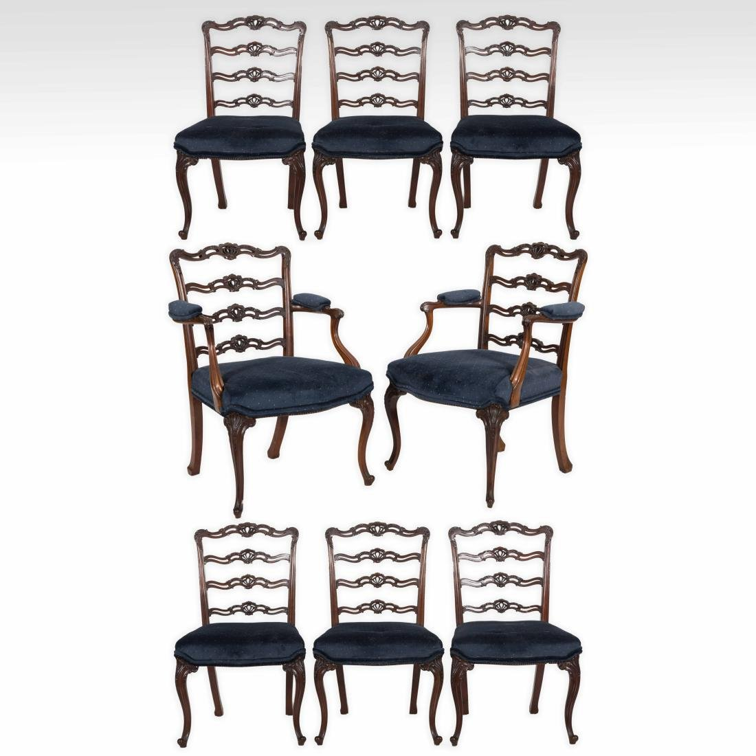 Set Eight Chippendale Style Chairs - Maple & Co.