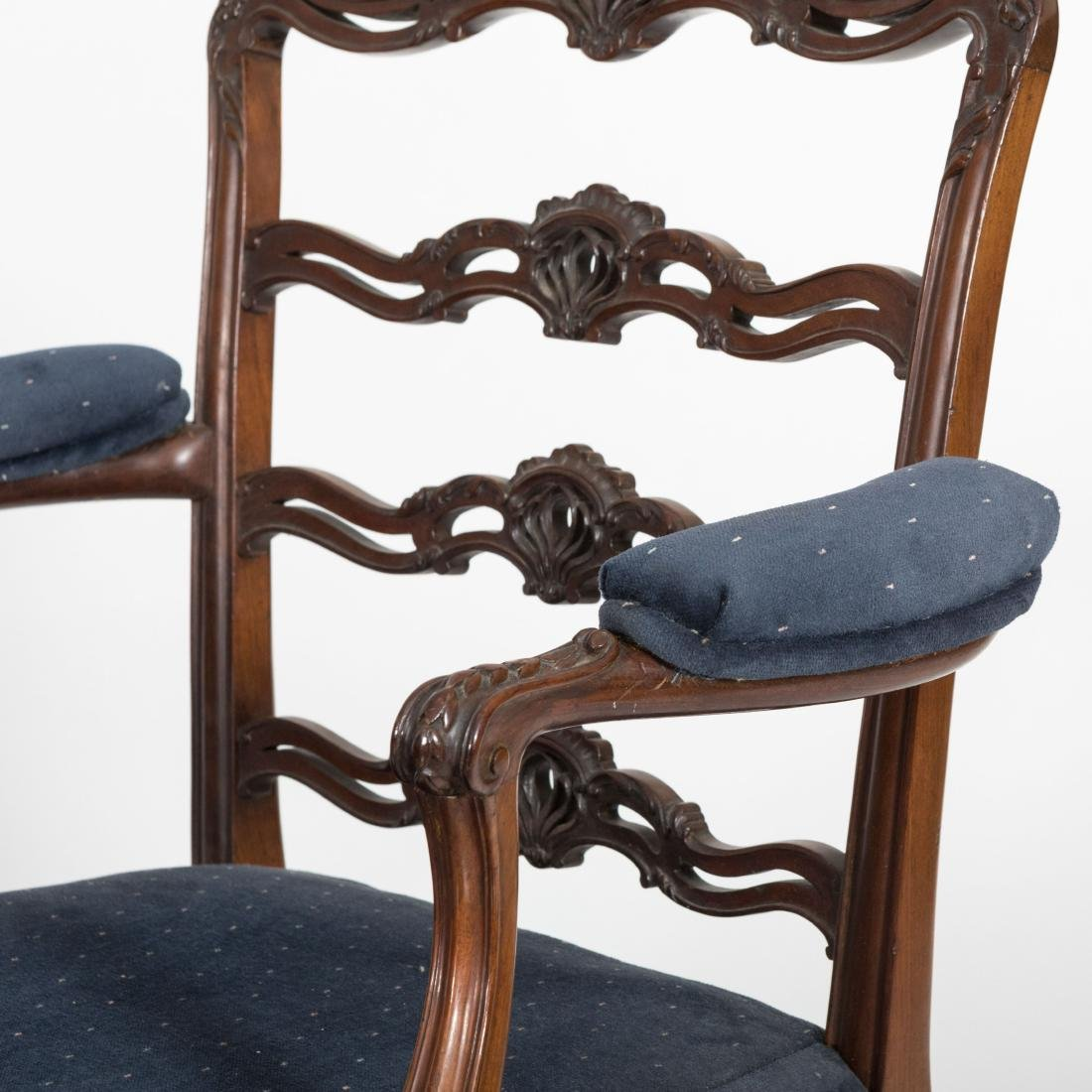 Set Eight Chippendale Style Chairs - Maple & Co. - 4