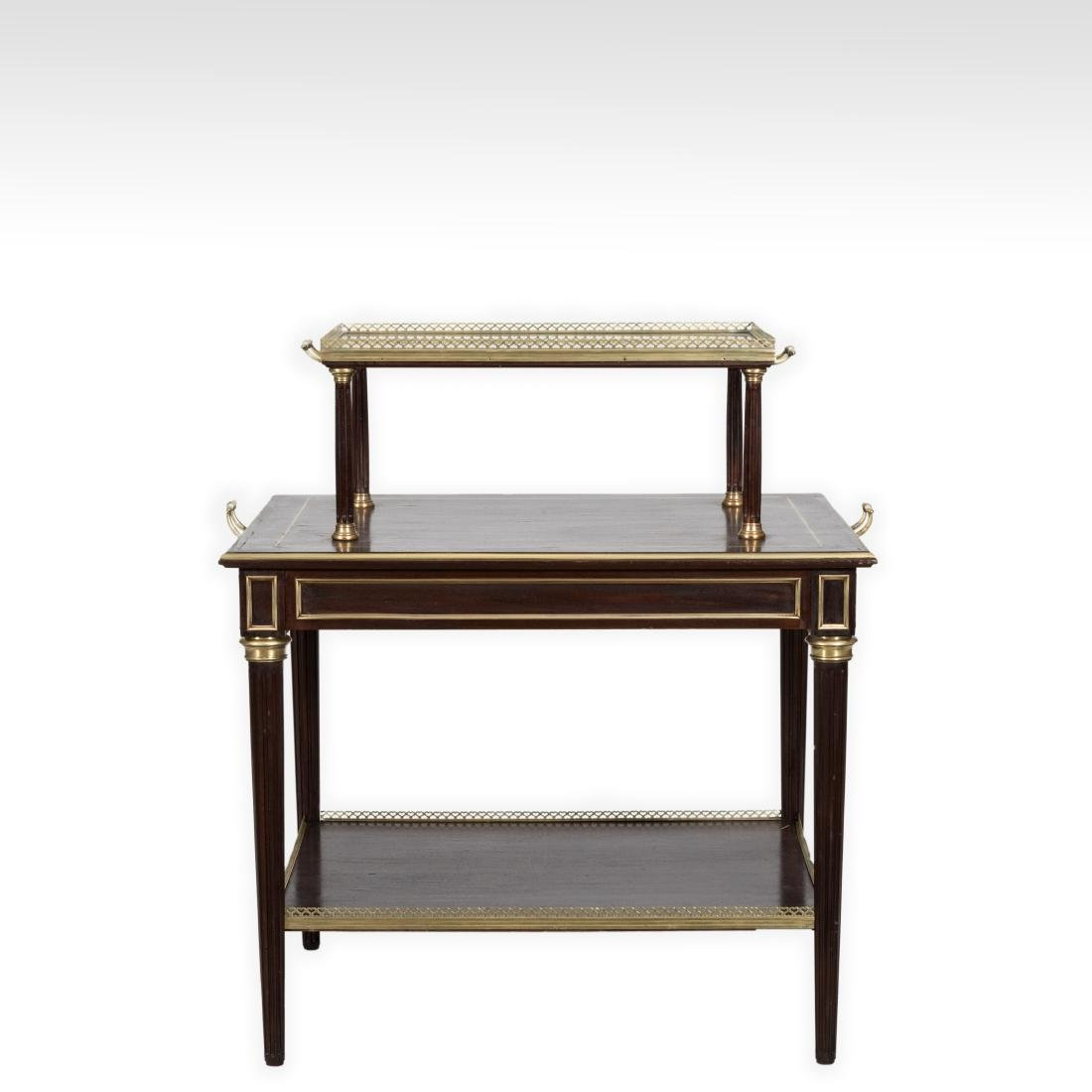 Two Tier French Server with Brass Trim