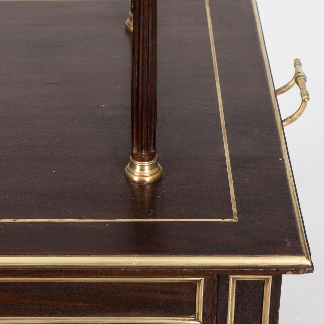 Two Tier French Server with Brass Trim - 2