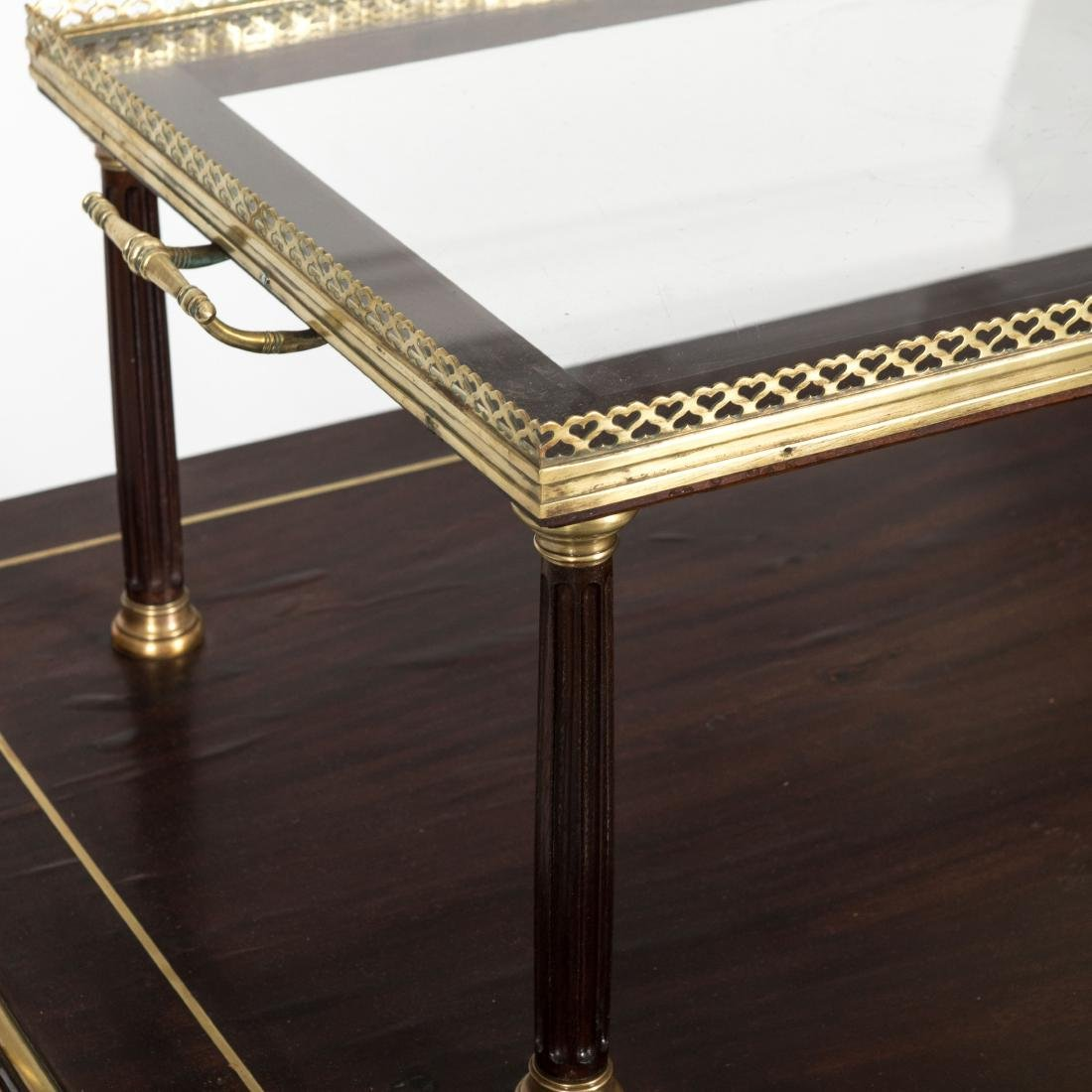Two Tier French Server with Brass Trim - 4