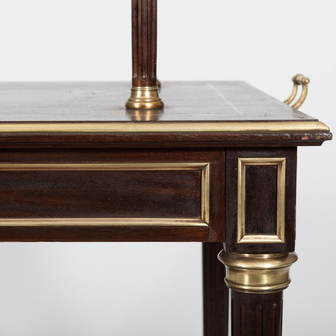 Two Tier French Server with Brass Trim - 5