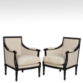 Pair French Style Living Room Chairs