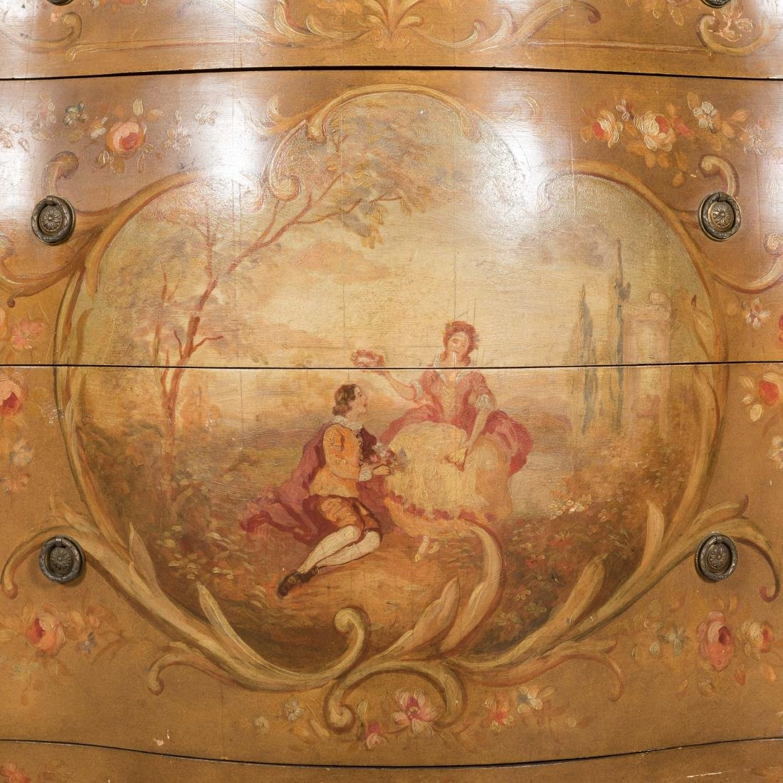 Painted Italian Marble Top Commode - 2