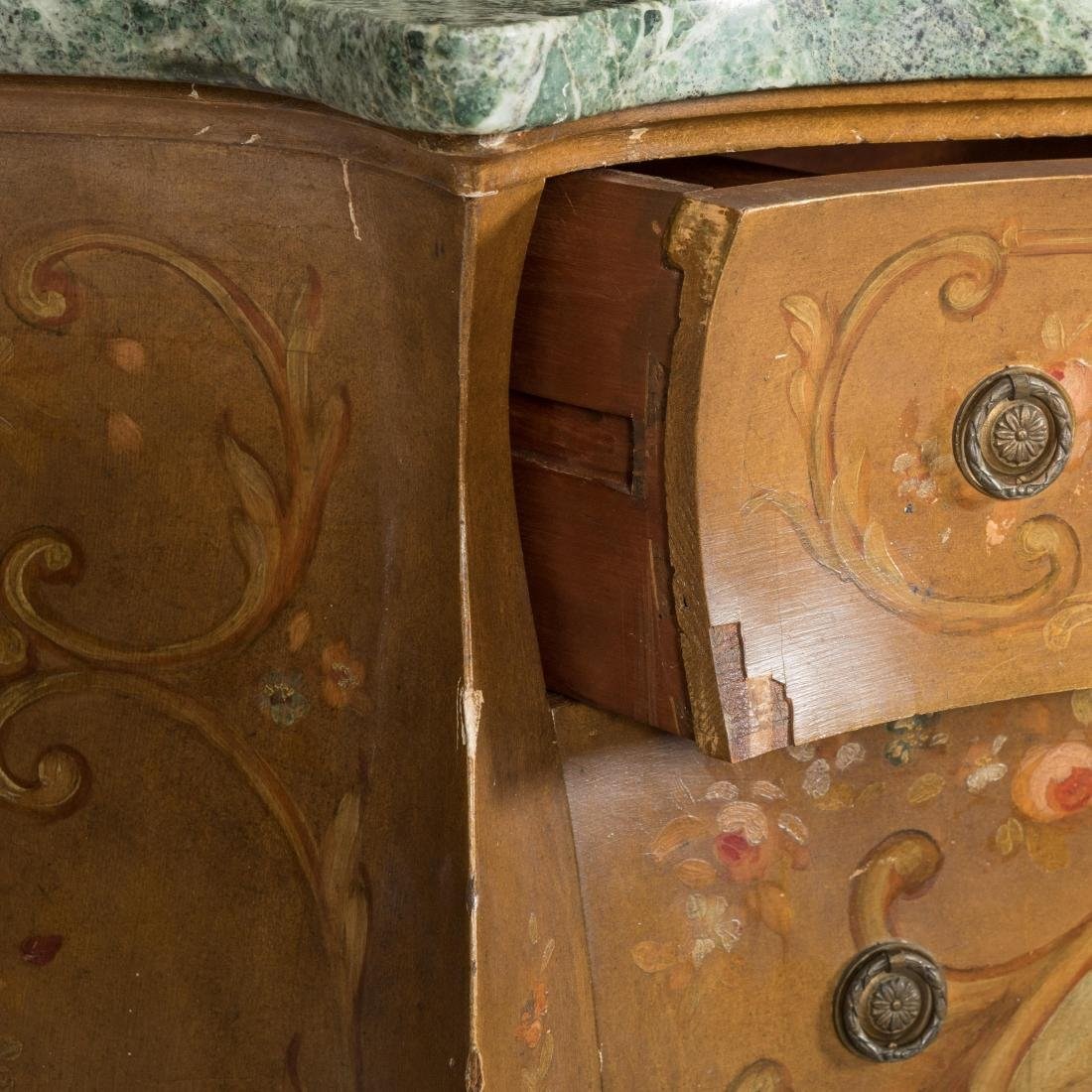 Painted Italian Marble Top Commode - 4