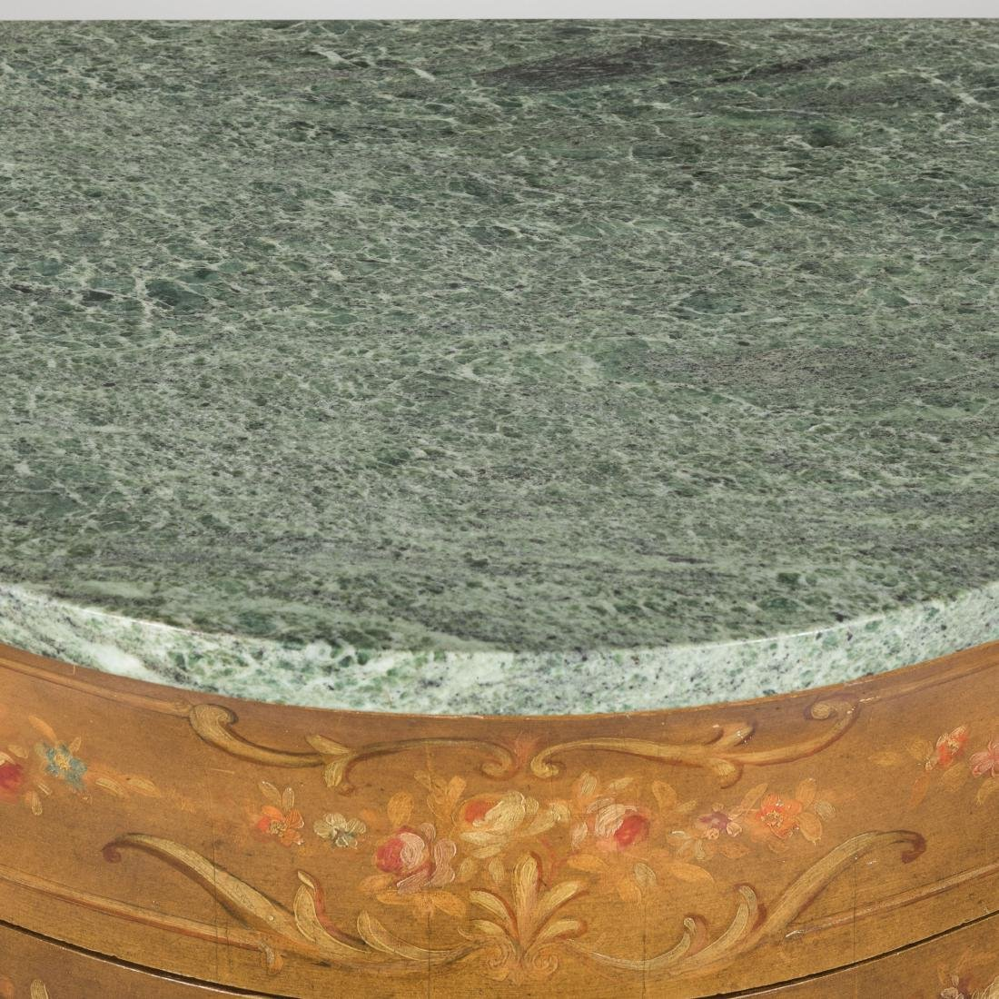 Painted Italian Marble Top Commode - 6