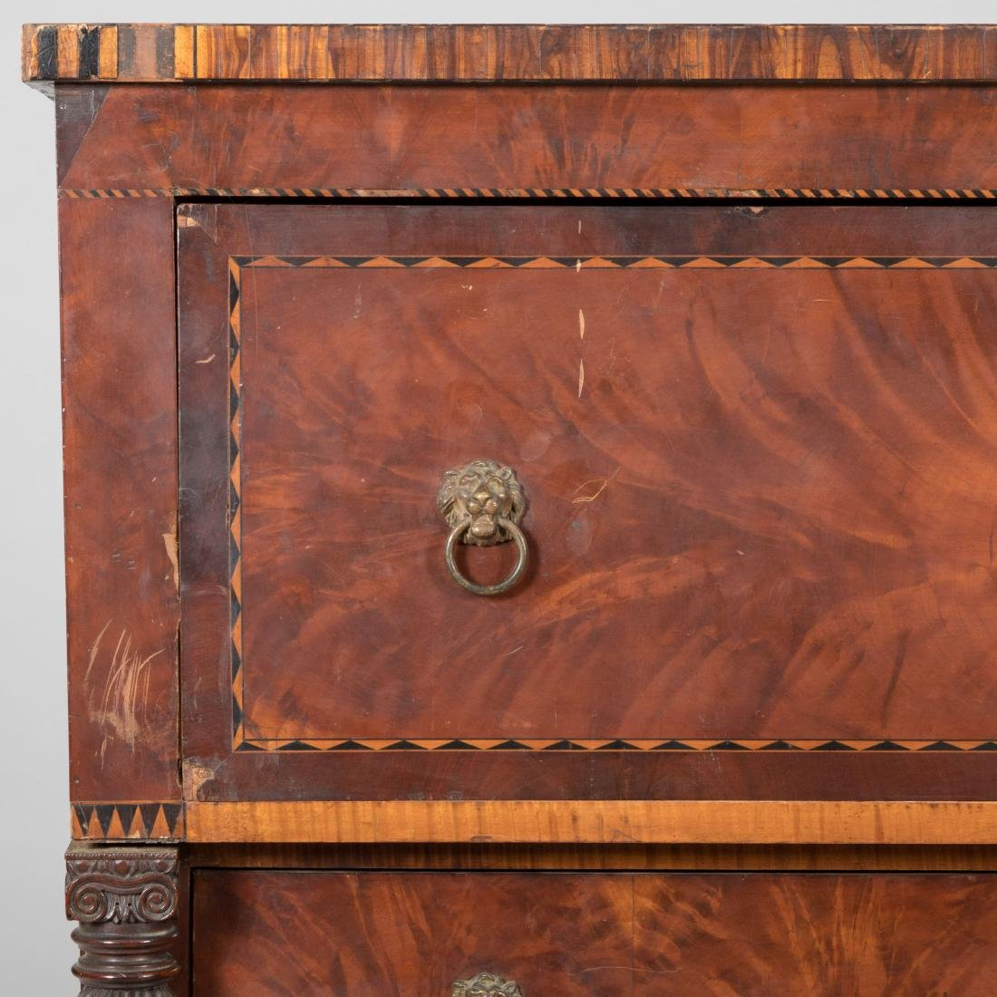 Inlaid Empire Butlers Desk - 3