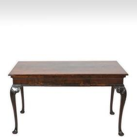 Walnut Chippendale Style Library Table