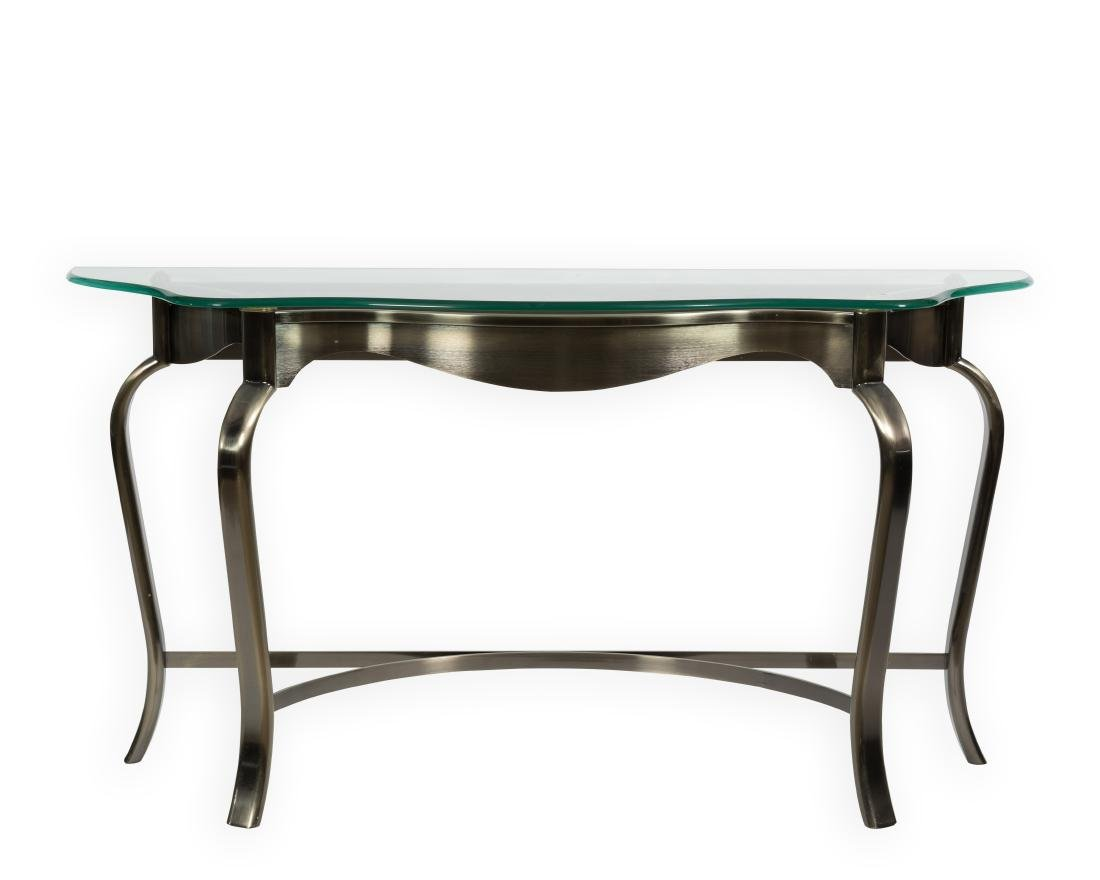 DIA Gunmetal and Brass Console Table