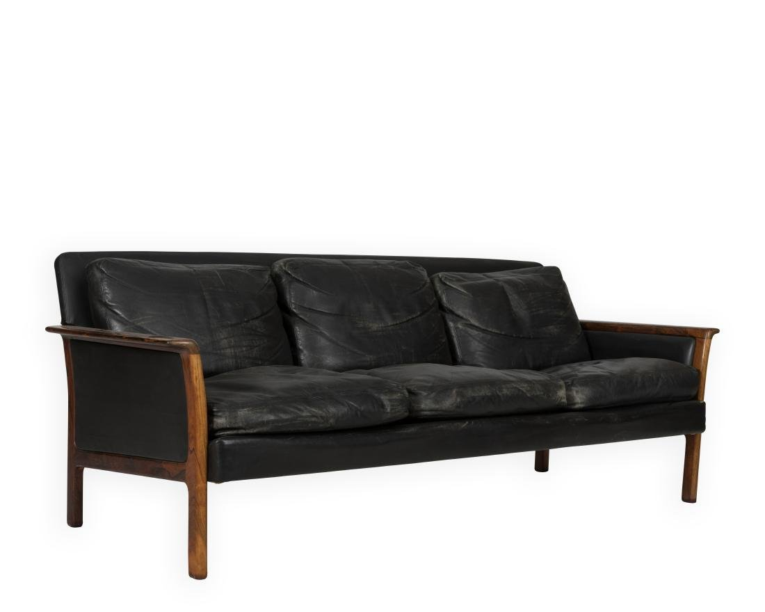Broderna Andersson Rosewood  Leather Sofa