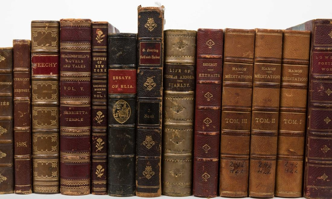 Group Antique Leather Bound Books - Fourteen - 3