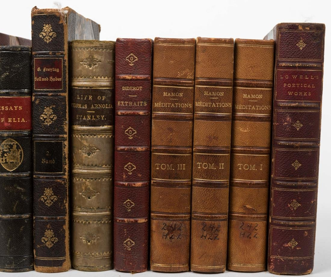 Group Antique Leather Bound Books - Fourteen - 4