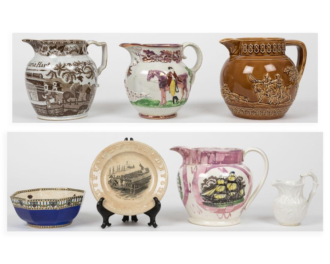 Group English Soft Paste Porcelain