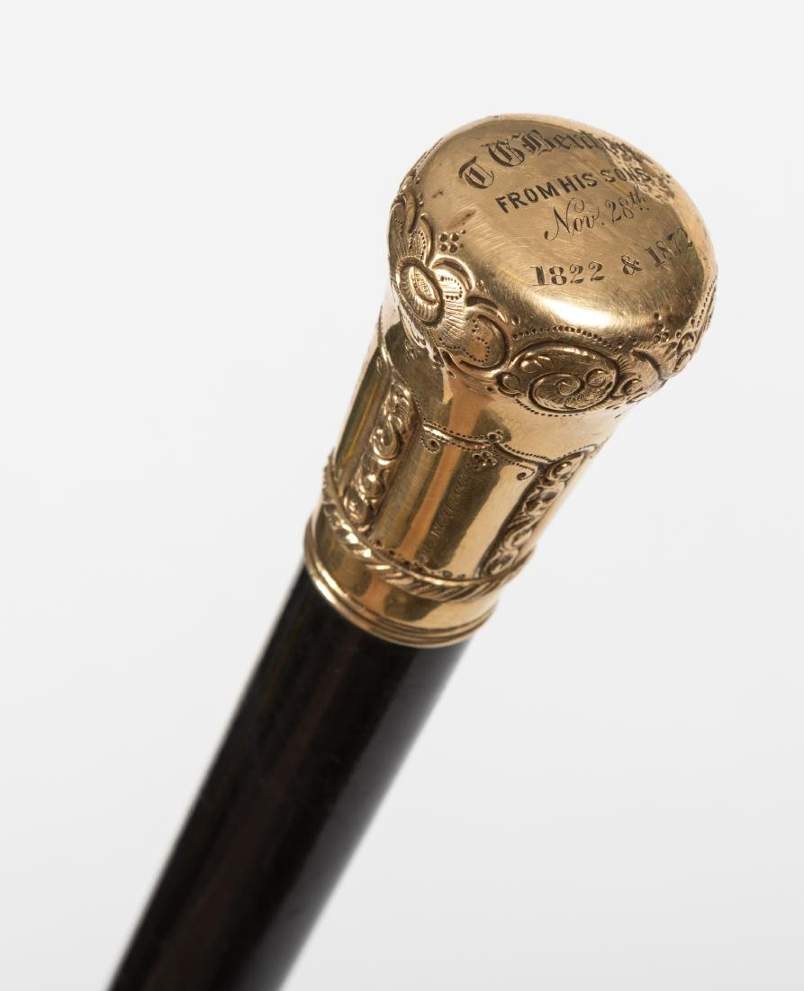 14K Gold-Topped Cane - 2