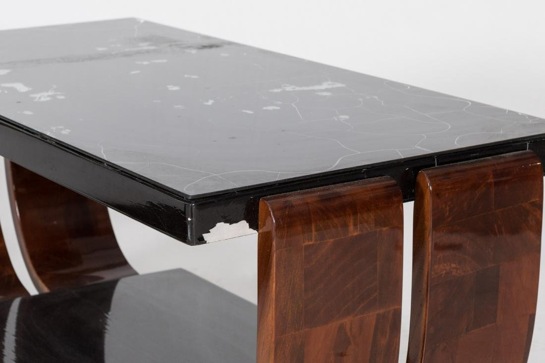 Two Glass Top Art Deco End Tables - 2
