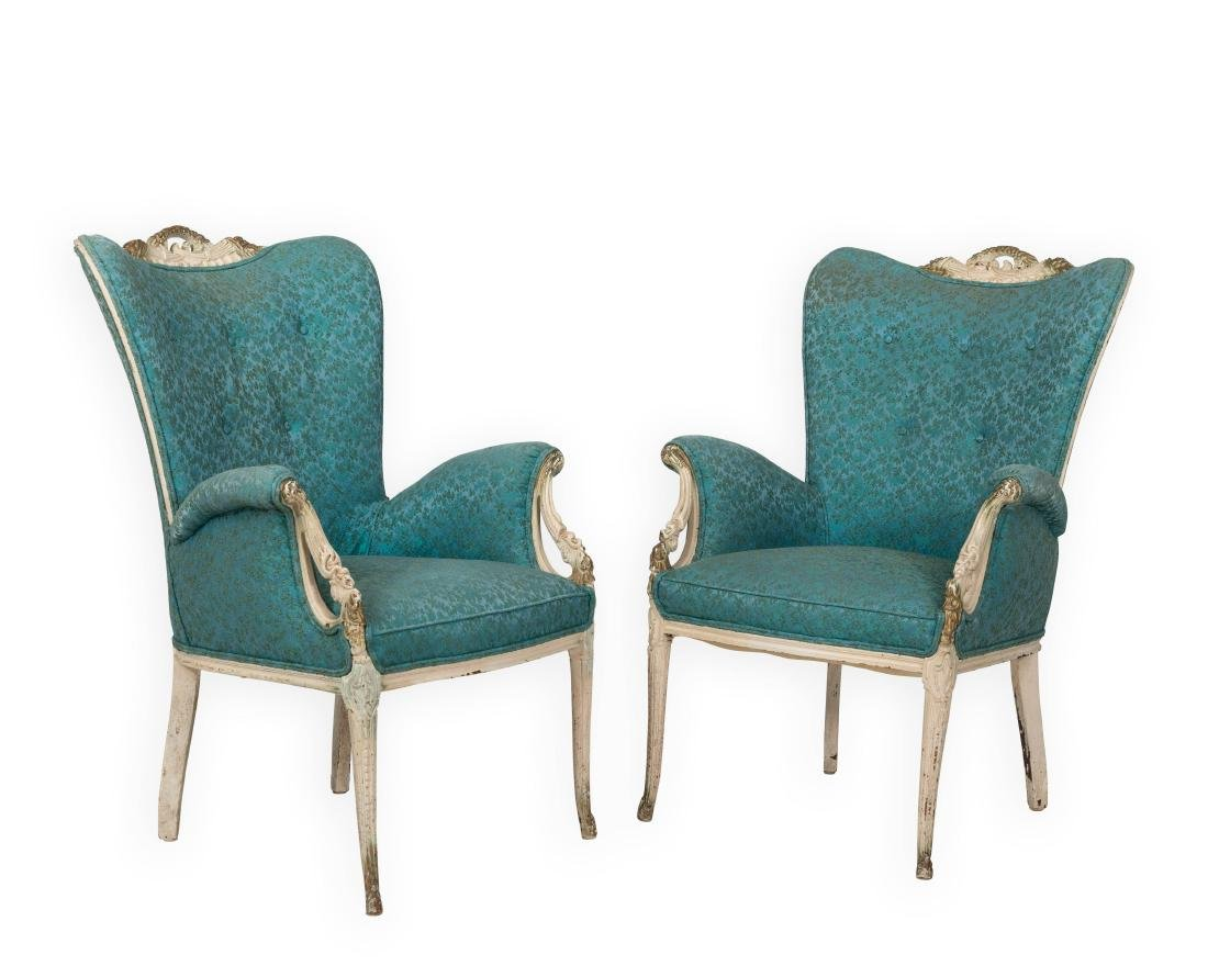Pair French Arm Chairs