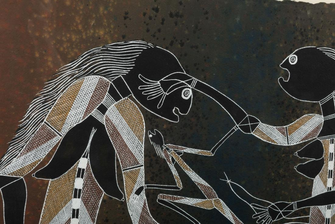 Large Aboriginal Painting - Alex Nganjima - 3