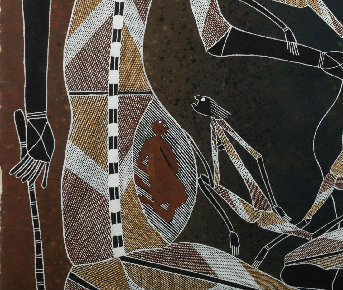 Large Aboriginal Painting - Alex Nganjima - 4