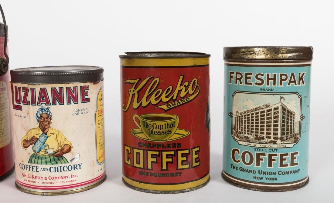 Group of Six Coffee Tins - 4