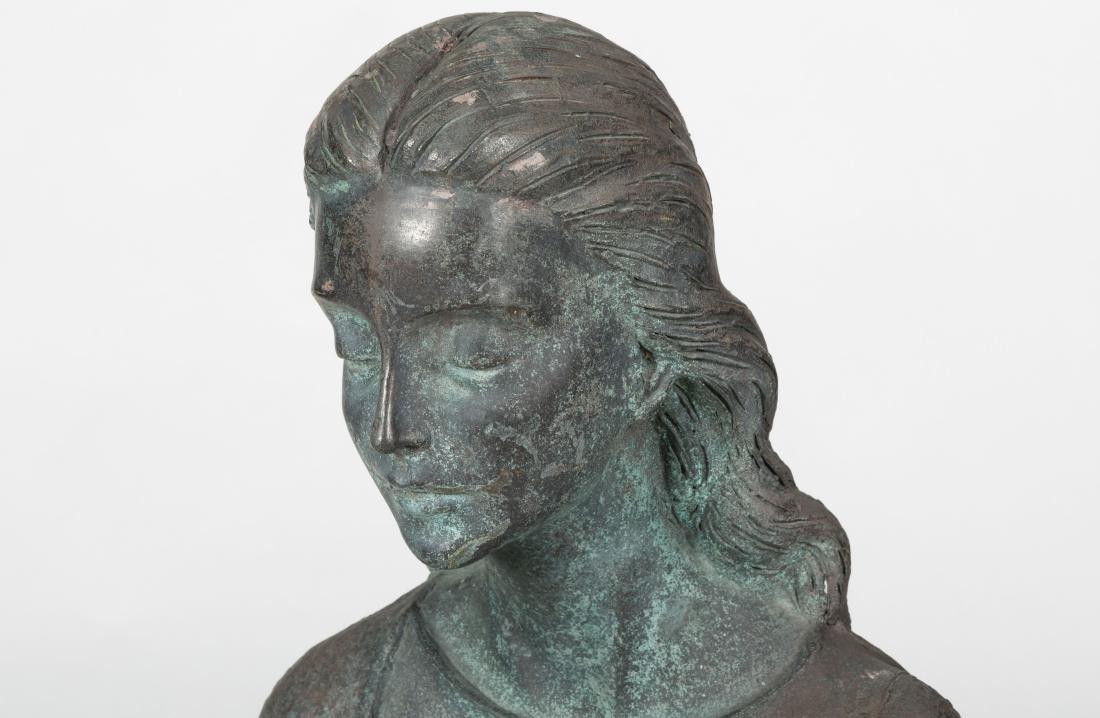 Large Bronze Kneeling Woman - 3
