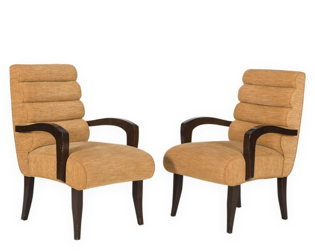 Pair Art Deco Style Arm Chairs
