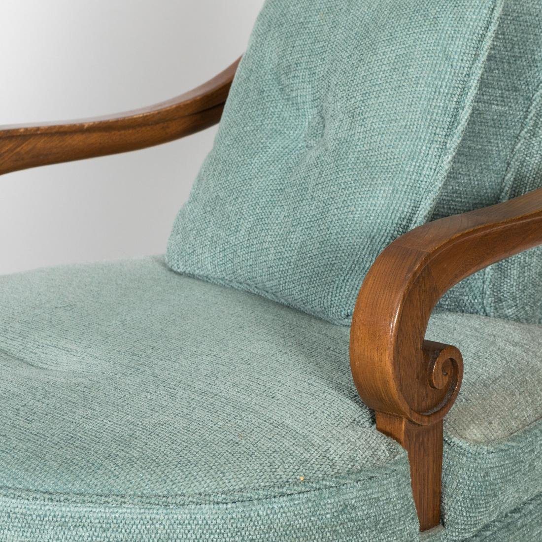 Pair Rolled Arm Chairs - 2