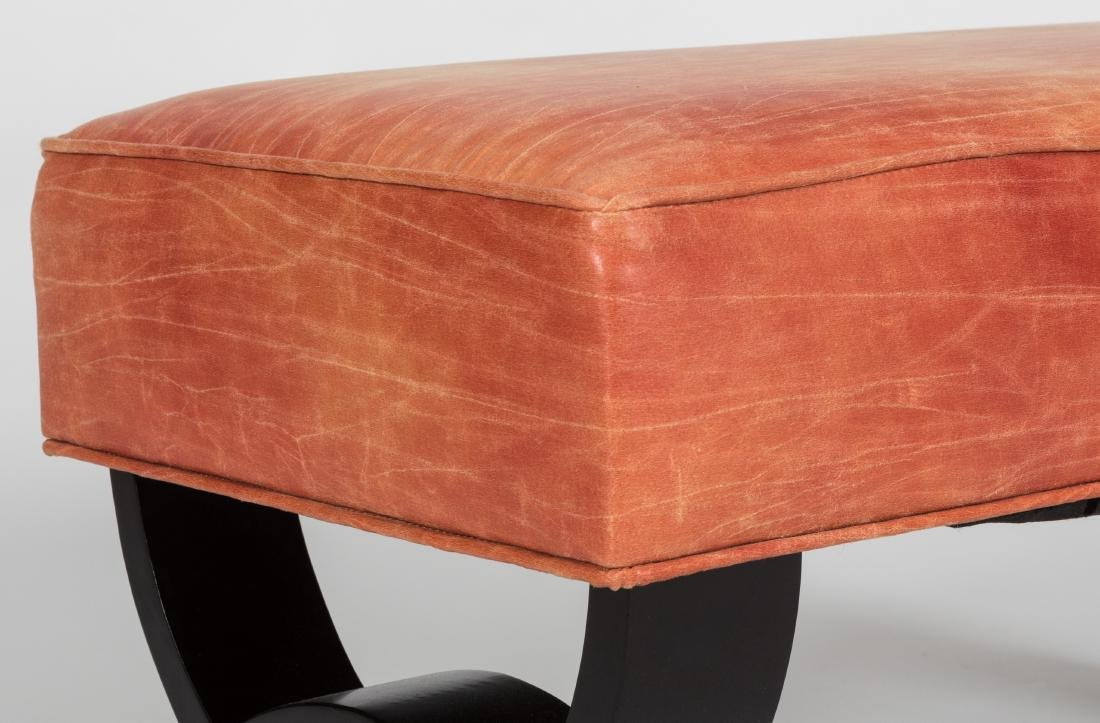 Petite Leather Bench - 2