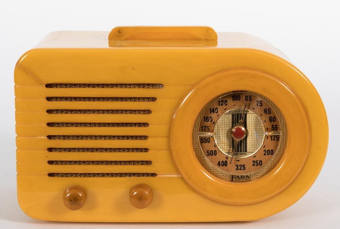 "Fada Bakelite ""Butterscotch"" Bullet Radio"