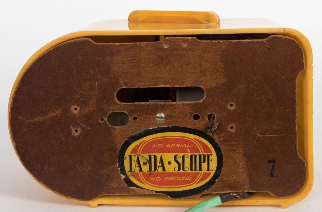 "Fada Bakelite ""Butterscotch"" Bullet Radio - 4"