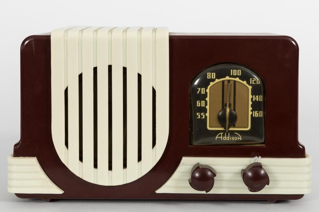 Addison Bakelite Tube Radio