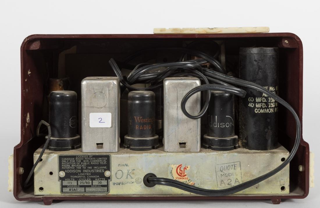 Addison Bakelite Tube Radio - 3