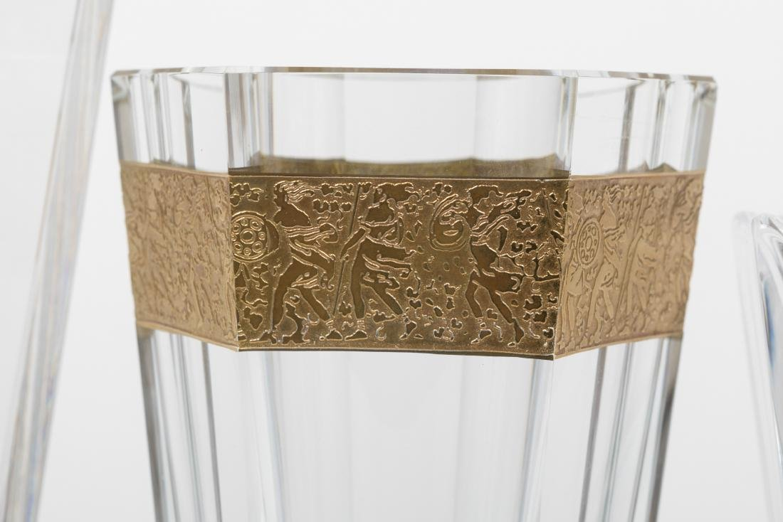 Three Crystal Vases - Moser - Tiffany - Orrefors - 2