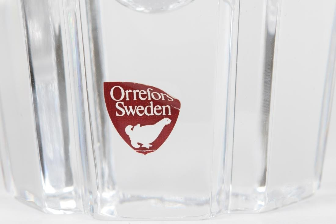 Three Crystal Vases - Moser - Tiffany - Orrefors - 4