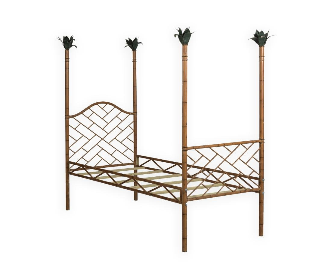 Faux Bamboo Iron Bed