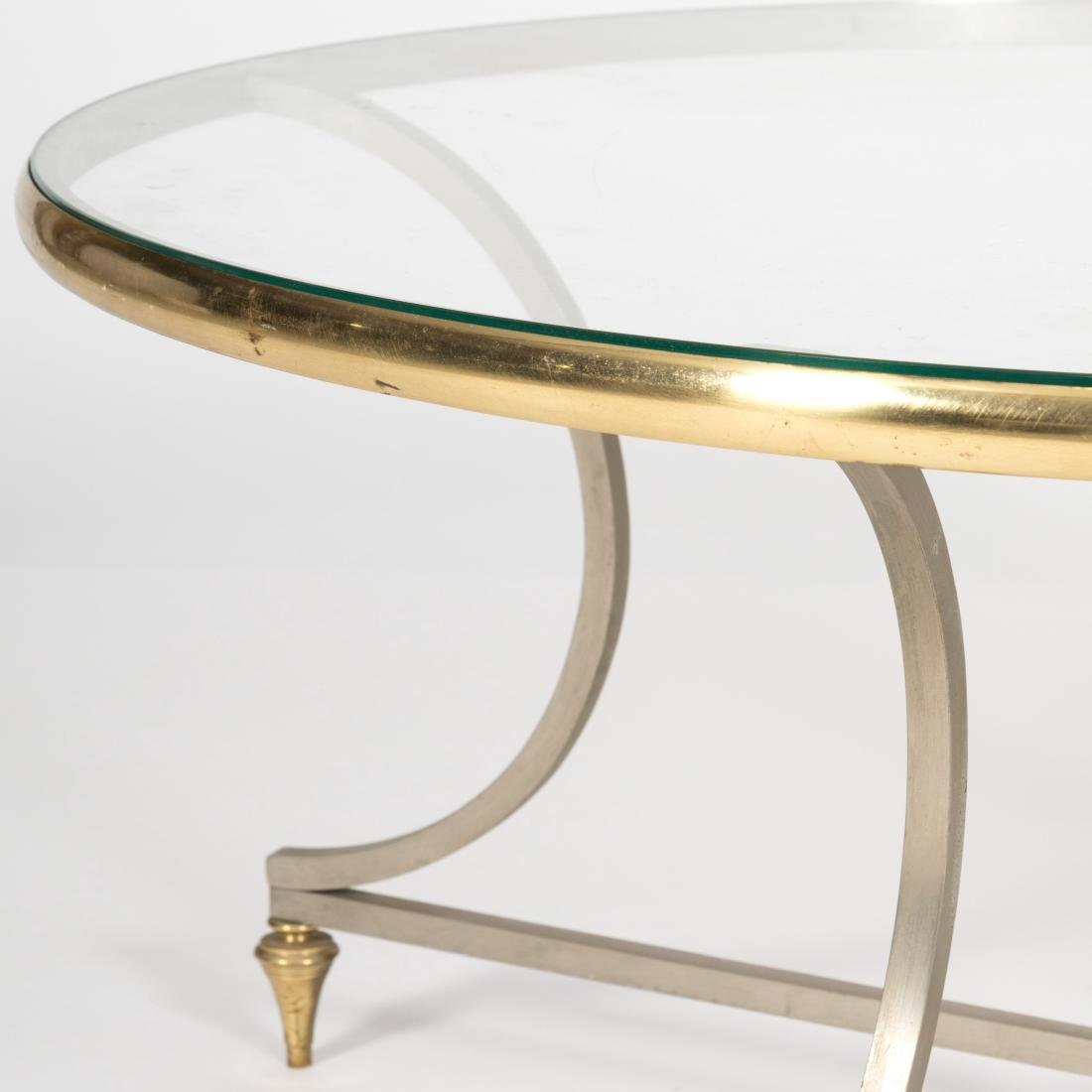Steel, Brass and Glass Cocktail Table - 3