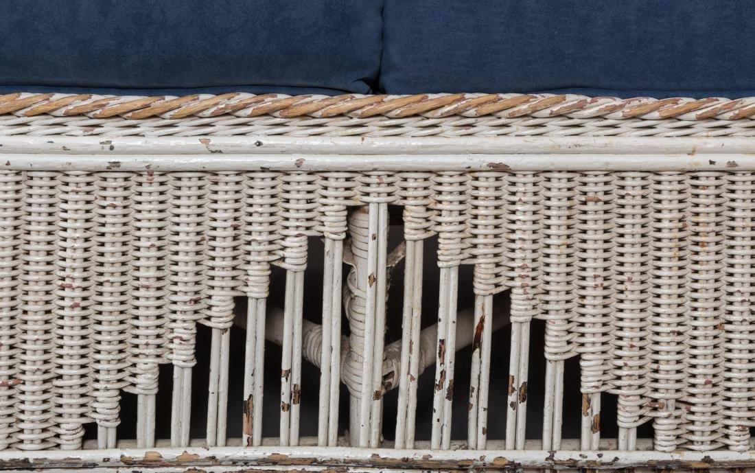 Four Piece Split Rattan and Wicker Porch Set - 5
